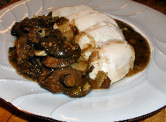 Chicken Breast with Pine Mushroom Sauce