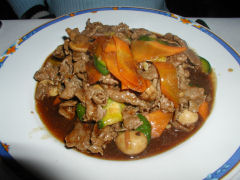 China Town beef with oyster sauce