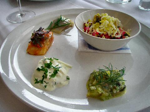 Club Sueco - herring sampler plate
