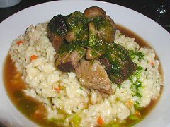 Cluny - veal and mushroom risotto