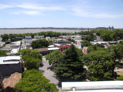 Looking out over Colonia from the lighthouse