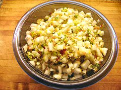 Cucmber and Melon Salsa