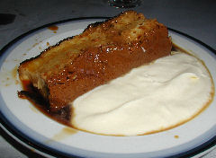 Don Chicho - flan casero with whipped cream