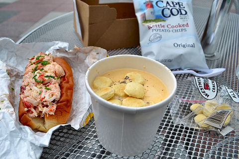 Ed's Lobster Bar - lobster roll and clam chowder