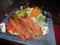 Erin's gravlax of salmon