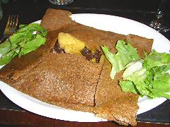 Finistere - morcilla and apple buckwheat crepe