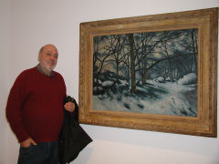 Frank poses with Cezanne's Melting Snow