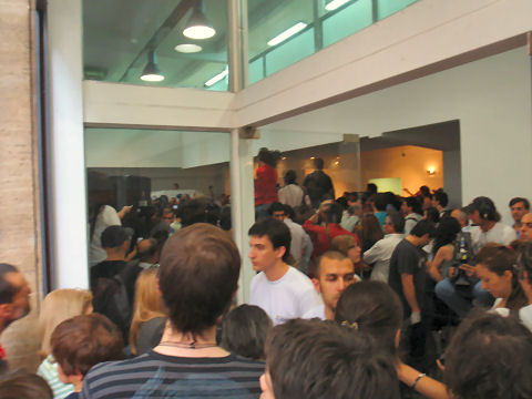 Crowd at Civil Registry