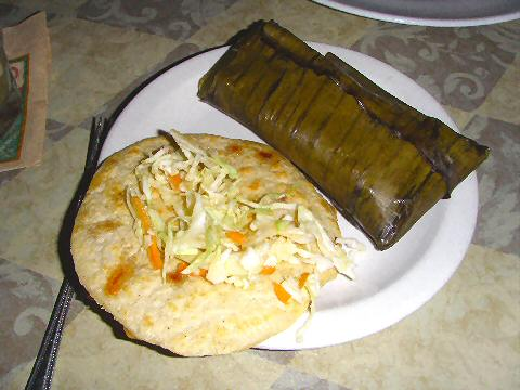 Gloria's - pupusa and tamale