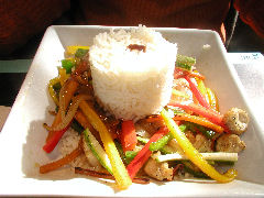 Gout - chicken stir fry