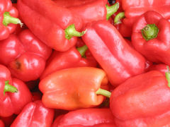 Greenmarket - red bell peppers
