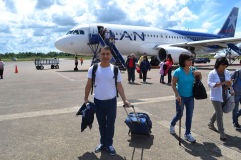 We arrive at Iquitos airport