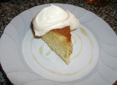 Honey-Liqueur Genoise, served