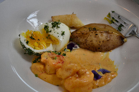 ilatina - eggs and shrimp