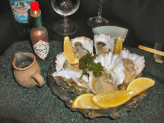 Irifune - fresh oysters on the half shell