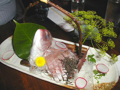 Kanoyama - whole red snapper sashimi