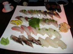 Koi - selection of sushi for three