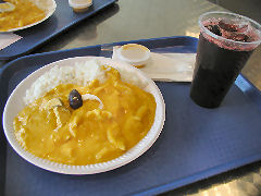 Lima Aireport - aji de gallina and chicha morada