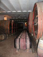 A look at one of the barrel rooms