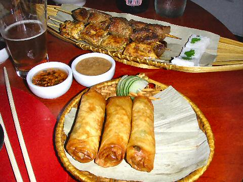 Lotus Neo Thai - springrolls and satay