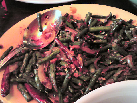 Mission Chinese - mongolian long beans