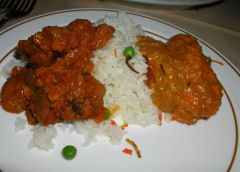 Mumtaz - lamb dhansak and chicken tikka masala