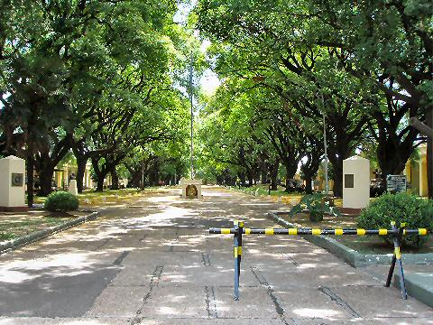The grounds of the Museo Historico del Ejercito Argentino