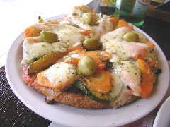 Naturity - roasted vegetable pizza