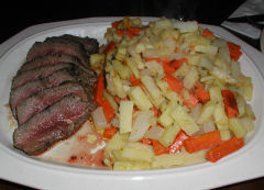 New Year's Eve - Steak and Root Vegetables