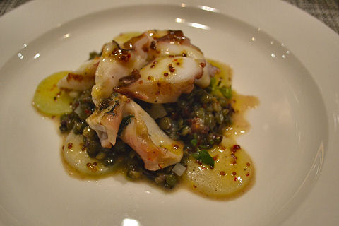 North End Grill - octopus