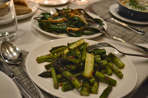 North End Grill - ramps and asparagus
