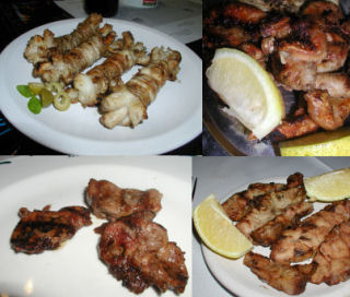 Offal - a mixed grill of chotos, rinones, mollejas, and chinchulines