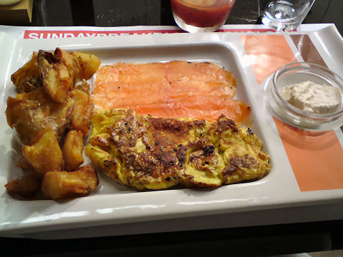 Olsen - omelette and salmon