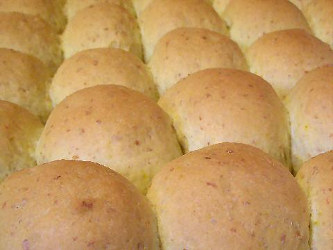 Just out of the oven bread rolls
