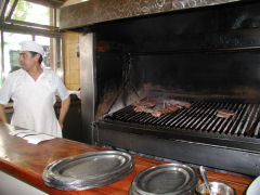 The grill at Parrilla Pena