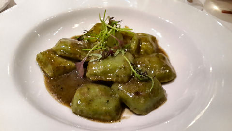La Pecora Nera - broccoli and crab ravioli