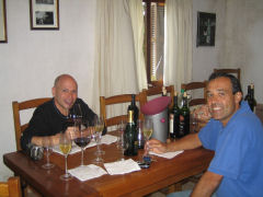 Tasting wines with Carlos Pizzorno