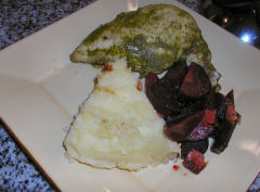 Chicken Quirquina with roasted beets and potatoes Antonio