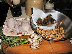 Ingredients for a Poussin roast