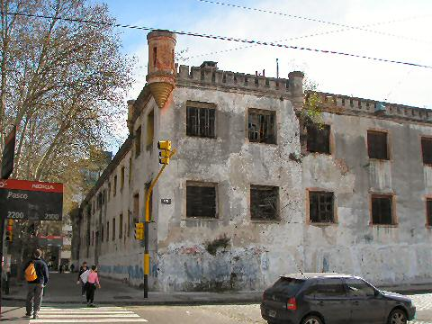Back side of Caseros Prison