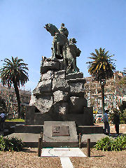 San Martin - statue in the town plaza