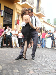 Tango dancers at the San Telmo Fair