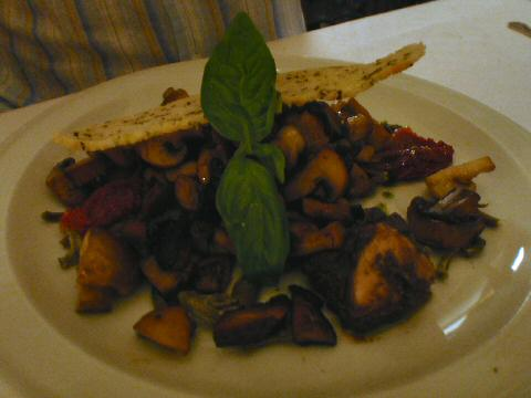 Social Paraiso - roasted mushrooms