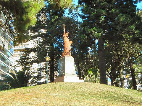 Replica of the Statue of Liberty in Barrancas