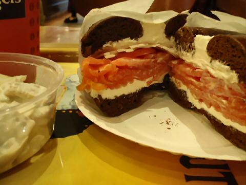 Tal Bagels - bagel, lox, and creamed herring