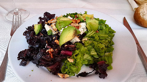 Telmo Mio - lettuce avocado blue cheese walnut salad