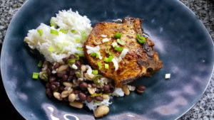 chipotle-pork-chop-spicy-beans-and-rice