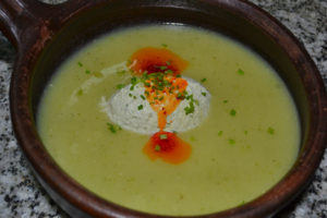 Chilled Potato and Summer Squash Soup