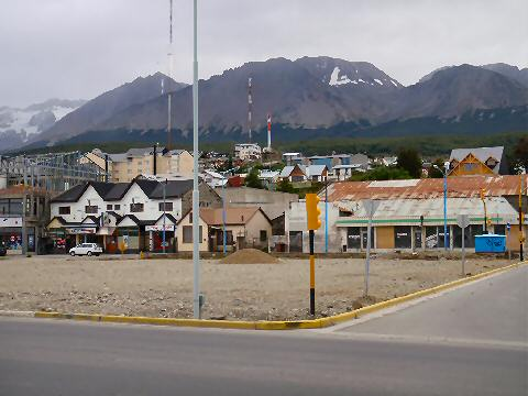 The first glimpse of Ushuaia as we head into town