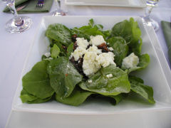 Vinedo de los Vientos - arugula and goat cheese salad